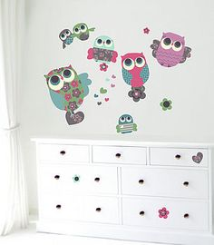 Fabric wall stickers For Noora's new room?!