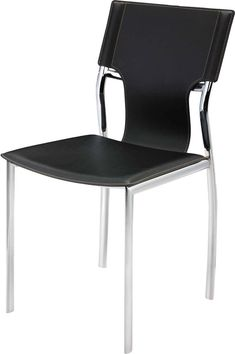 Ashli Upholstered Dining Chair Black Leather Dining Chairs, Contemporary Dining Chairs, Solid Wood Dining Chairs, Upholstered Dining Chairs, Dining Chair Set, All Modern, Chair Design, Side Chairs, Cool Kitchens