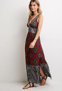 FOREVER 21 Tribal Print Maxi Dress