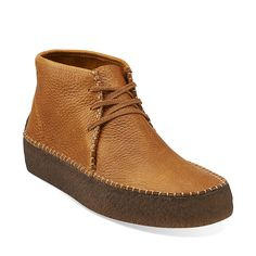 Wallabee Ridge in Tan Tumbled Leather - Mens Boots from Clarks | #clarks | #clarksoriginals