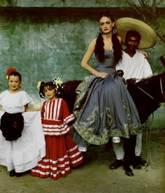Socialite and Spanish model Laura Ponte, photographed a la Kahlo, by Iris Brosch.