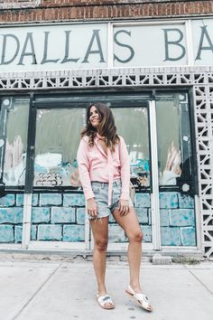 Goodnight_Macaroon-Levis_VIntage-Checked_Blouse-Pink_Shirt-Red_Heels-Marni_Sandals-Dallas-93