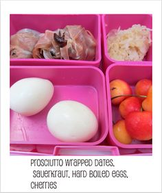 Packing a Paleo lunch box is easier than you think | prosciutto wrapped dates? yes please!