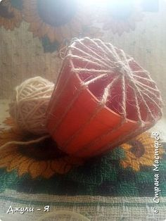 Jute Crafts, Diy Home Crafts, Recycled Crafts, Paper Crafts, Sisal, Diy Crochet Rope Basket, Popsicle Stick Christmas Crafts, Home And Deco, Flower Crafts
