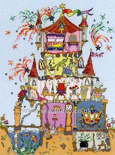 Buy Cut Thru' Princess Palace Cross Stitch Kit online at sewandso.co.uk