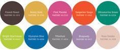 Pantone's Fall Fashion Color Palette #Fashionomics #Fashionmentor #Color