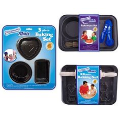 Entenmanns Minis 3 Piece Baking Set 3 mini pans loaf pan round pie pan heart cake pan -- Read more reviews of the product by visiting the link on the image.(This is an Amazon affiliate link)