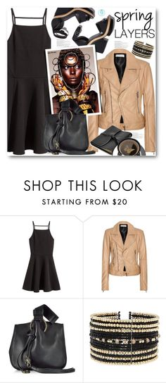 """Beige Biker Jacket"" by queenvirgo ❤ liked on Polyvore featuring Pierre Hardy, Balenciaga, Roberto Cavalli, Eloquii and FOSSIL"