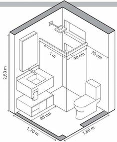 Agencement Cuisine : Tiny homes have to make efficient use of space and that includes the bathrooms. A tiny house bathroom has to accommodate a toilet a bath and/or shower and a sink in a very small amount of space. Tiny Bathrooms, Tiny House Bathroom, Bathroom Closet, Master Bathrooms, Bathroom Mirrors, Bathroom Cabinets, Beautiful Bathrooms, Master Baths, Marble Bathrooms