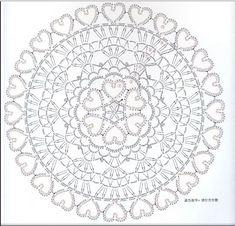 Crochet Little Doilies + Diagrams Motif Mandala Crochet, Crochet Doily Diagram, Crochet Symbols, Crochet Mandala Pattern, Crochet Stitches Patterns, Knitting Patterns, Macrame Patterns, Thread Crochet, Dreamcatcher Crochet