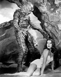 Julie Adams in, The Creature from the Black Lagoon.