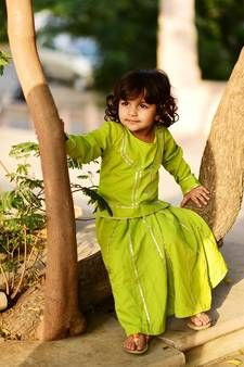 Thread & Button Kid's Crepe Solid Lehanga Choli in Green Kids Wear Online, Girl Online, Cotton Lehenga, Lehenga Choli, Baby Boy Outfits, Kids Outfits, Cool Outfits, Kids Dress Collection, Kids Indian Wear