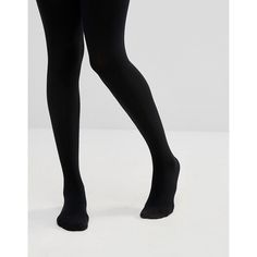 ASOS 200 Denier Thermal Tights ($17) ❤ liked on Polyvore featuring intimates, hosiery, tights, black, nylon hosiery, asos, nylon tights, nylon stockings and opaque pantyhose
