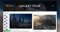 Trip Journal App mobile modern clean web template psd free