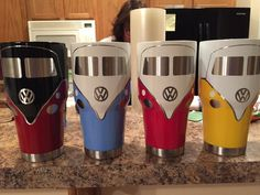 VW Bus - 30oz Tumbler / Split Window or Bay Window Type 2 Two-Tone (Volkswagen) Cup / Mug / Glass / Rambler / Growler (Beetle / Bug ) by NerdyGunny on Etsy https://www.etsy.com/listing/521073343/vw-bus-30oz-tumbler-split-window-or-bay