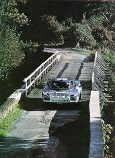 Bernard Darniche - Alain Mahé (Lancia Stratos) 2ème du Tour de Corse 1976 - sport-auto décembre 1976.