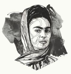 Frida Kahlo. by Bryan Gallardo, via Behance