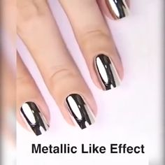 💅Mirror Nail Polish A professional nail art gift ! Charming metallic mirror effect !<br> If you're not already obsessed with chrome nails, you're about to be. The Mirror Nail Polish can achieve chrome nails without the powder! It's just one step an Mirror Nail Polish, Metallic Nail Polish, Mirror Nails, Chrome Nails, Matte Nails, Black Nails, Chrome Nail Polish, Brown Nails, Stiletto Nails