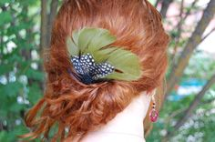 Green Feather Comb