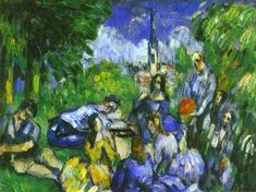 A Lunch On Grass by Paul Cézanne