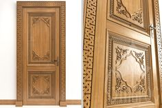 Дизайн-проект межкомнатной двери, украшенной резным декором из дерева. Design project of interior door, decorated with carved wooden decoration.
