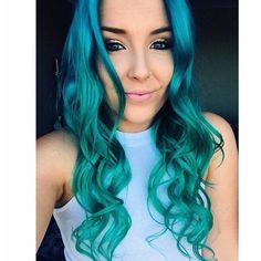 Mermaid hair green Aqua