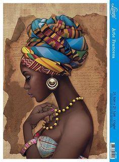 African Wall Art, African Artwork, African Art Paintings, Black Girl Art, Black Women Art, Art Girl, Black Art Painting, Black Artwork, African Drawings