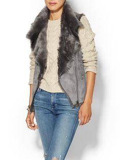 Faux Fur Shearling Vest Product Image