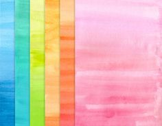 WATERCOLOR OVERLAYS - Instant download - ombre watercolor sheets, brush strokes, scrapbooking supply, craft, typograhy, clipart