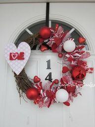 Valentines Love Grapevine Wreath, Valentine Wreat by CarolinaMoonCrafts on Etsy