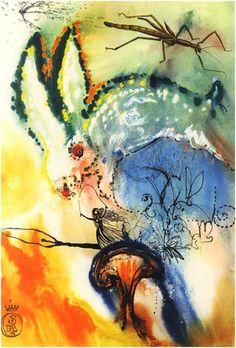 """Down the Rabbit Hole"" by Salvador Dali. His interpretation of Alice in Wonderland."