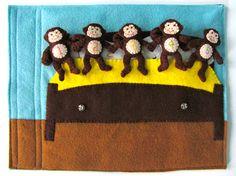 Five Little Monkeys Quiet Book Page | Imagine Our Life