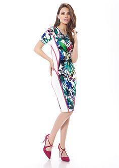 Inter Zeila 9426   GN Design GroupINTER ZEILA 9426  Vestido casual corto, en stretch estampado, muy confortable