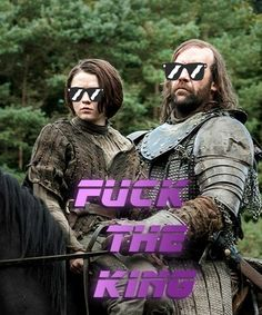 THIS IS THE BEST!!! I would watch a spin off called Arya and The Hound every single day.