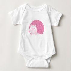 #cute #baby #bodysuits - #Cute Pink Hedgehog Baby Bodysuit