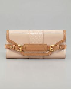 Clapton Patent Clutch Bag, Warm Beige by Belstaff at Neiman Marcus.