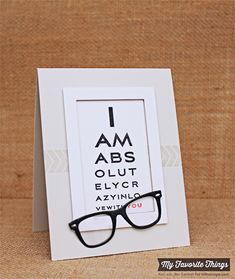 Eye Charts, Mod Borders, Geek Is Chic Glasses Die-namics, Rectangle Frames Die-namics - Kim van der Sanden #mftstamps