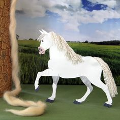 Nothing will deter Maximus from apprehending the fugitive Flynn Rider -- at least not until Rapunzel appeals to his compassion. Here's how to make a paper model of this virtuous equine.