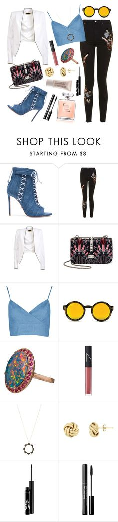"""Yeah, I'll be there, too."" by ravenclaw-phoenix on Polyvore featuring Oscar Tiye, Topshop, Alice + Olivia, Valentino, Andrea Fohrman, NARS Cosmetics, Kate Spade and Laura Mercier"