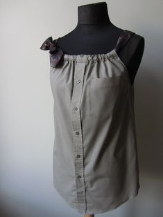 Upcycled Clothing  Boyfriend Tank Top by fannie