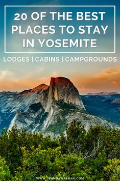Outdoor Travel usa Where to stay in Yosemite National Park, California. 20 of the best places to stay in and near the national park ranging from lodges to cabins to campgrounds and glamping. The best of Californias national parks. Yosemite Lodging, Yosemite Camping, Best Hotels In Yosemite, Travel Yosemite, Yosemite Campgrounds, Yosemite Vacation, Best National Parks Usa, California National Parks, Viajes