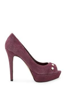 MANGO TOUCH - Suede peeptoe shoes