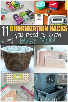 These organization hacks are oh-so-handy for the busy mom who doesn�t have time to waste with complicated organizational systems.