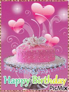 Happy Birthday Cake Girl, Happy Birthday Gif Images, Animated Happy Birthday Wishes, Birthday Cake Greetings, Birthday Cake Gif, Happy Birthday Wishes Photos, Birthday Wishes For Kids, Happy Birthday Video, Happy Birthday Celebration