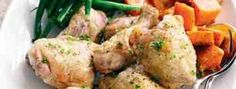 Kurczak z warzywami gotowany na parze w sosie jogurtowo - musztardowym