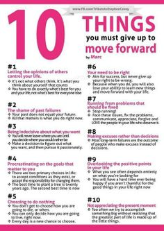 INSPIRATION: 10 Things You Must Give Up to Move Forward.