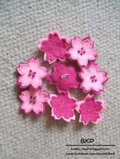 Sakura - felt brooch by nezstorm.deviantart.com on @deviantART