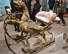 Dalva Brothers antique baroque French sleigh, century, designed by Jean Berain Vintage Sled, Horse Harness, Dashing Through The Snow, Carnival Themes, Bull Riding, Antique Show, Horse Drawn, Beautiful Horses, Old Things