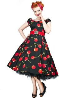 Collectif   Dolores Doll Dress Cherry Stem