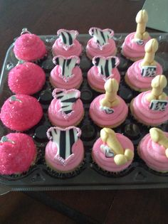 Bachelorette cupcakes. Perfect for sugar and spice (typical bachelorette party) w/ tea and brunch too